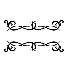 Dividers floral decorative black bold ornaments vector