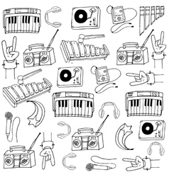 Doodle of music tools vector