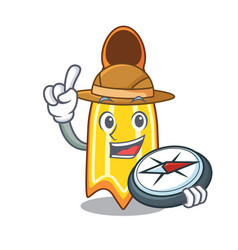 Explorer swim fin mascot cartoon vector