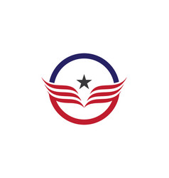 falcon eagle bird logo template icon vector image