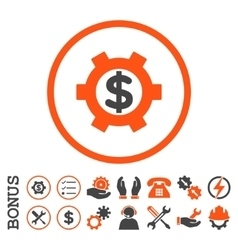 Financial Settings Flat Rounded Icon With vector