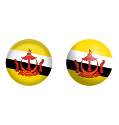 Flag under 3d dome button and on glossy sphere vector