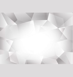 gray and white color polygon abstract background vector image