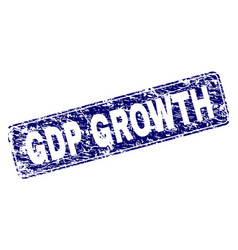 Grunge gdp growth framed rounded rectangle stamp vector
