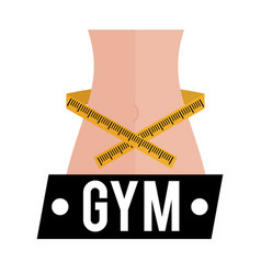gym lose weight sport card vector image