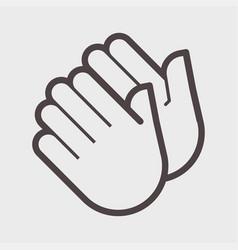 hand shake gesture vector image vector image
