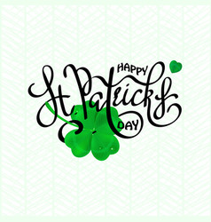 happy saint patricks day logotype vector image