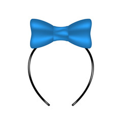 headband with bow in blue design vector image vector image
