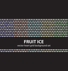 heart pattern set fruit ice seamless vector image