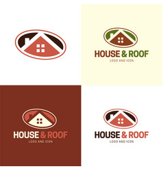 house and rologo and icon 2 vector image