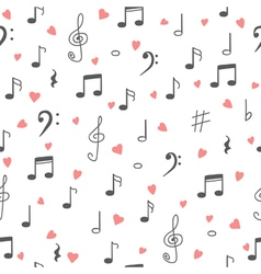 I love music Music seamless pattern background vector image