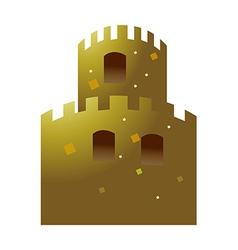 Icon castle vector
