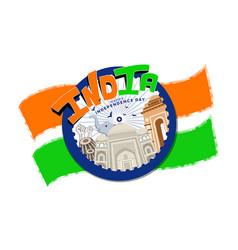 independence day freedom celebration india vector image
