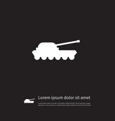 Isolated artillery icon warfare element vector