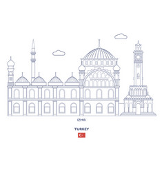 Izmir city skyline vector