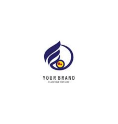 letter e finance symbol logo vector image