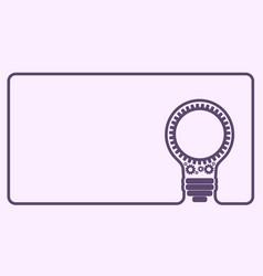 Light bulb gears vector