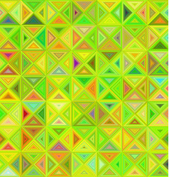 Lime color abstract triangle mosaic background vector image