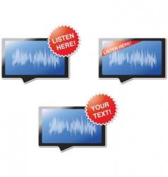 listen here vector image vector image