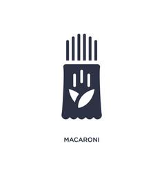 Macaroni icon on white background simple element vector