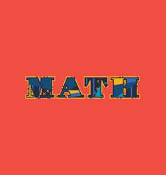 Math concept word art vector