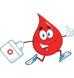 Medical drop of blood vector image