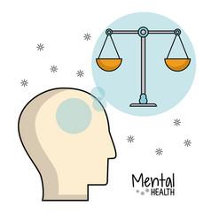 mental health head balance image vector image