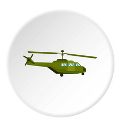Military helicopter icon circle vector
