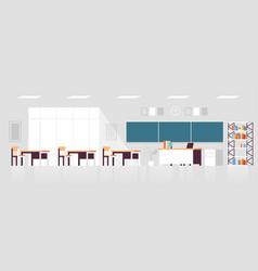 modern classroom interior empty no people school vector image