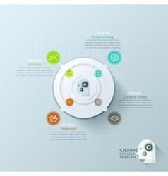 Modern infographics options banner with 4-options vector