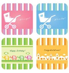 Newborn bacard vector