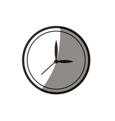 Outlined clock watch time break image vector