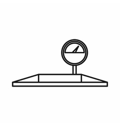 Parking scales icon outline style vector