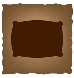 Pillow sign Vintage effect vector