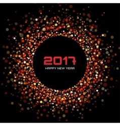 red confetti circle New Year 2017 background vector image