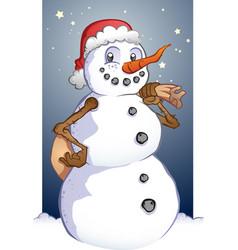 Santa snowman cartoon christmas mascot vector