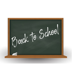 school chalkboard background with chalk vector image