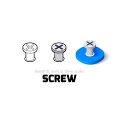 Screw icon in different style vector