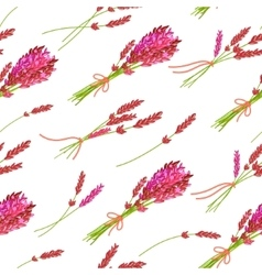 Seamless pattern with hand drawn floral elements vector image