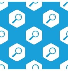 Search hexagon pattern vector
