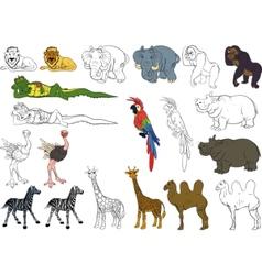 Set african animals vector
