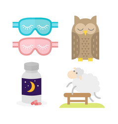 sleep icon sleeping pills milk vector image
