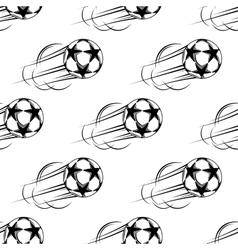Soccer ball speeding through air vector