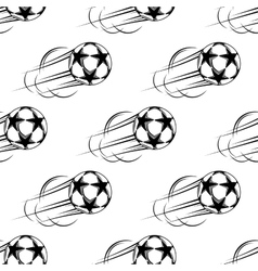 Soccer ball speeding through the air vector