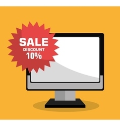 Technology shopping offers with discounts vector