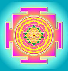 the sri yantra or sri chakra form mystical vector image