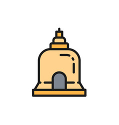 traditional monastery in pattaya thailand flat vector image