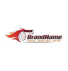 Turbo fire performance auto logo automotive logo vector