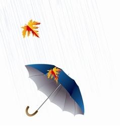 Umbrella and Rain Autumn Icon Minimalistic Style vector