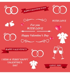 Valentines day and lettering greeting card vector